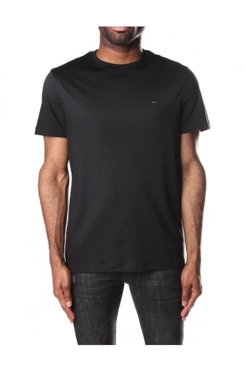 Men's Sleek MK Crew Neck Short Sleeve T-Shirt Black