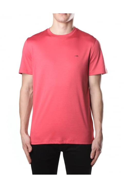 Men's Sleek MK Crew Neck Short Sleeve Tee Nantucket Red