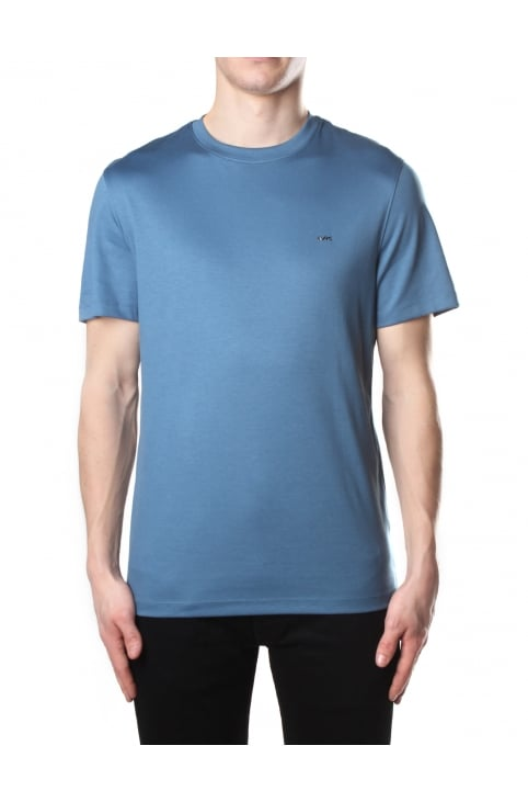 Men's Sleek MK Crew Neck Short Sleeve Tee Shadow Blue