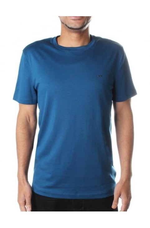 Men's Sleek MK Crew Neck Tee Pacific Blue