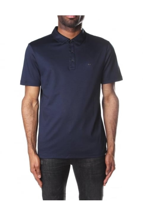 Men's Sleek MK Short Sleeve Polo Top Midnight