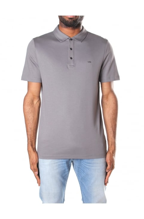 Men's Sleek MK Short Sleeve Polo Top Storm