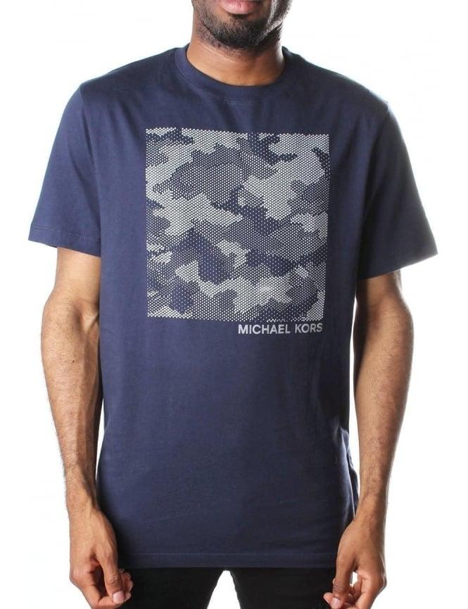 d9a8feeb7 Michael Kors Men's Tech Camo Graphic T-Shirt Midnight