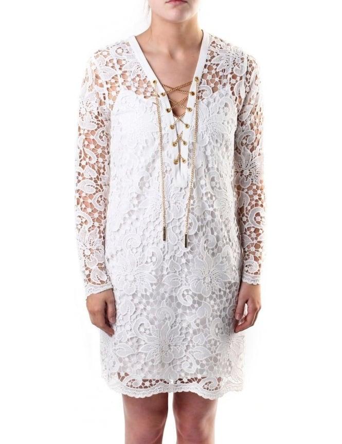 a8bc0a1904b Michael Kors Open Lace Women s Tunic Dress White