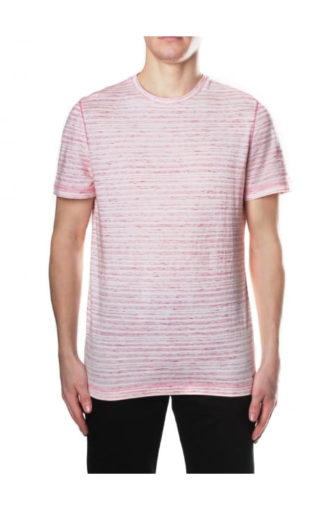 Overlock Men's Space Dye Tee Nantucket Red