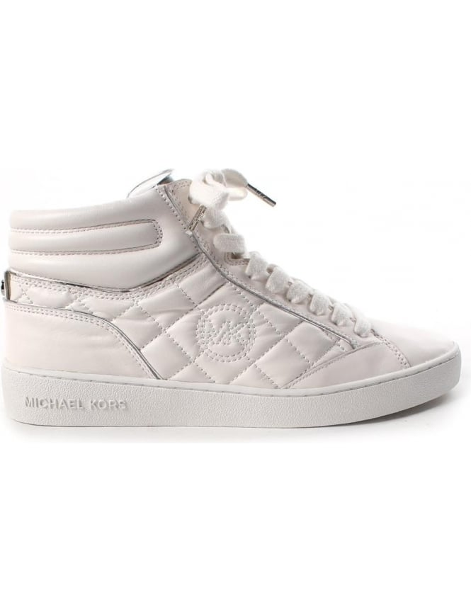 a7c069f1069 Michael Kors Paige Quilted High Top Women s Trainer White