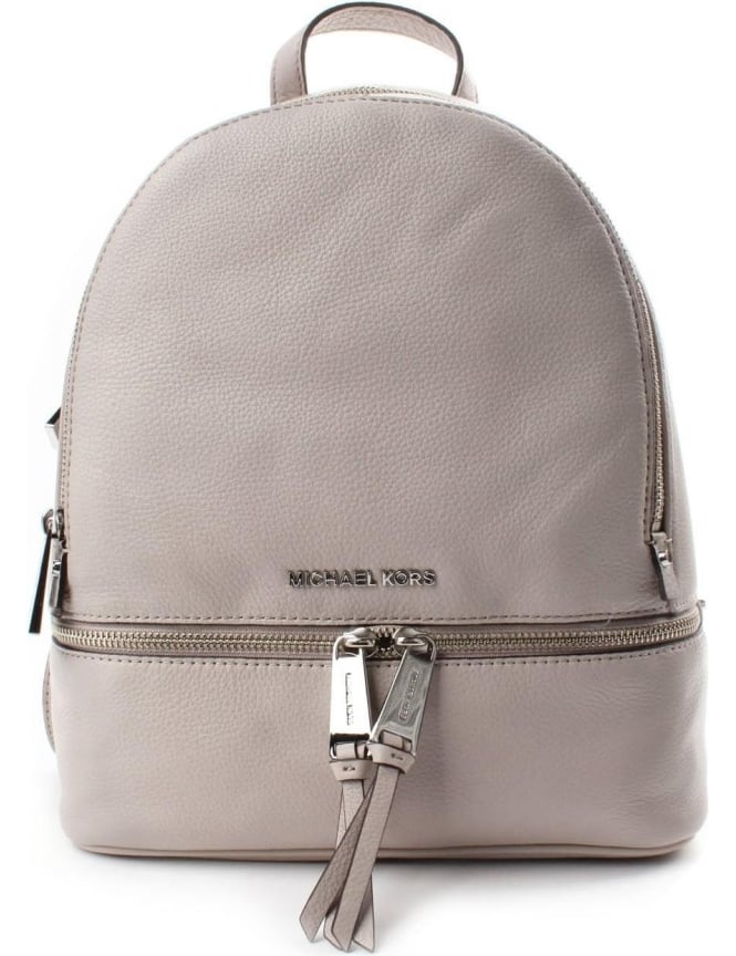 12c8a54dc97341 Michael Kors Rhea Zip Through Medium Women's Back Pack Cement