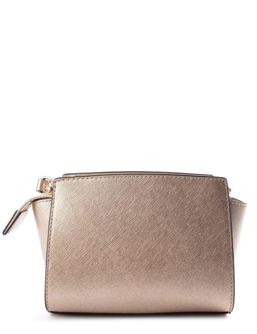 9c3aba3f8446 Michael Kors Selma Women s Mini Messenger Bag Gold