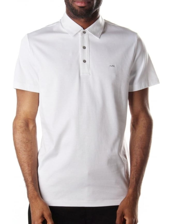 Michael Kors Sleek Men's Short Sleeve Polo Top