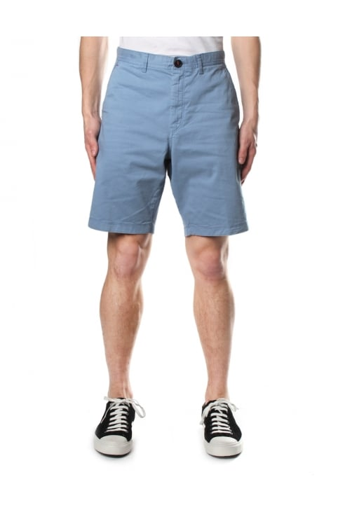 Slim Garment Men's Dye Shorts Blue Grey