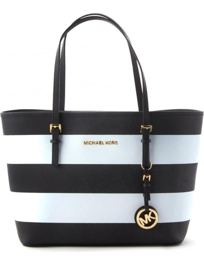 0448fad64469 Small Travel Stripe Women's Tote Bag Black/White
