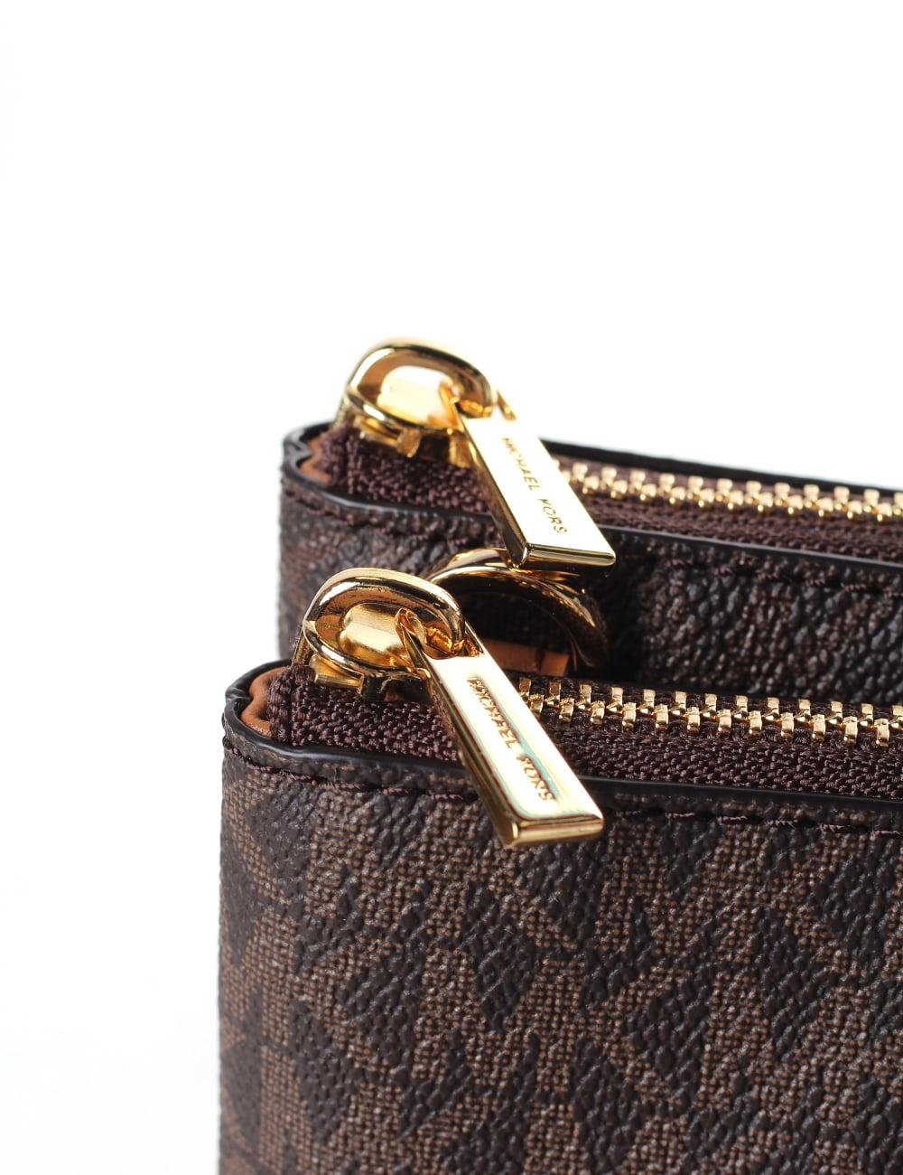 Michael Kors Women s Adele Double Zip Crossbody Bag de49324b7c553