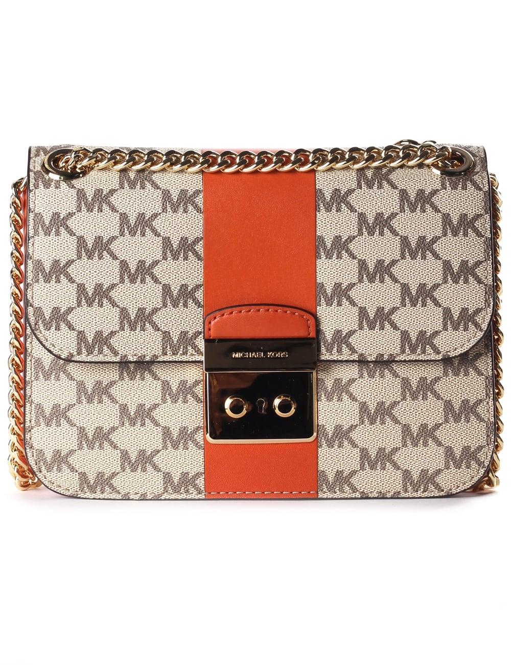 076f4d139131 Women  039 s Centre Stripe Sloan Editor Medium Chain Shoulder Bag