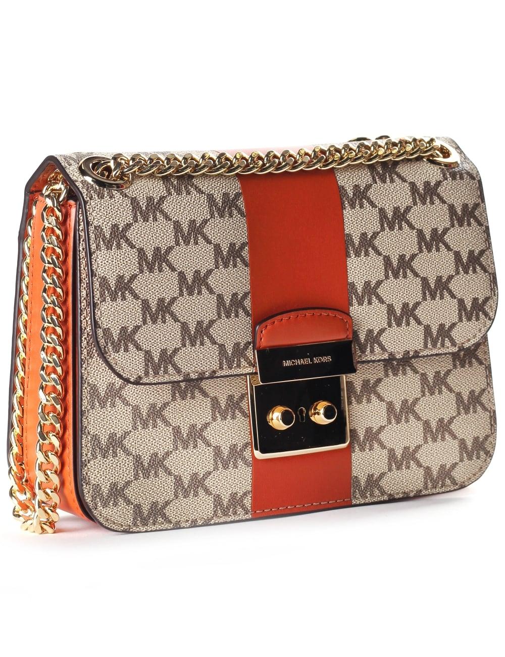a1b7d96848e Women  039 s Centre Stripe Sloan Editor Medium Chain Shoulder Bag