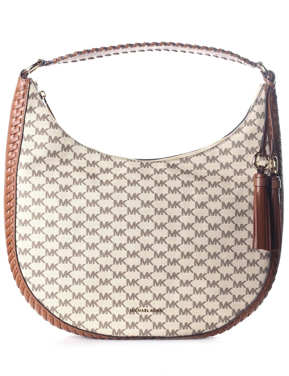 ecdde83126fe Michael Kors Women's Large Lauryn Shoulder Bag Natural/Luggage