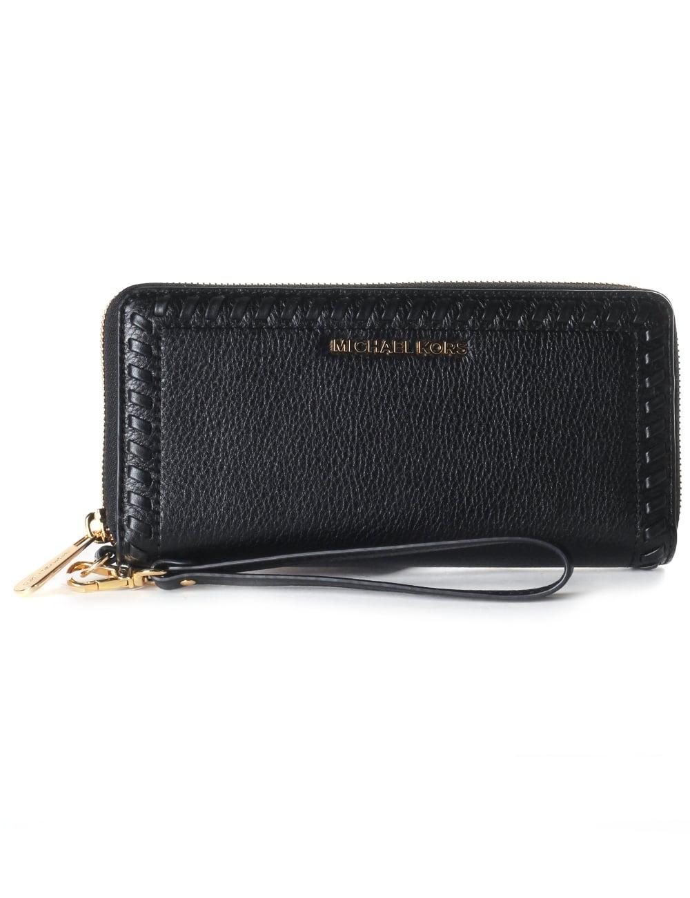 f1b28cdbeadb ... Michael Kors Fulton Large Leather Top Zip Clutch and Wristlet iPhone 6  Plus, iPhone 6s Plus 5.5 Women039s Lauryn Travel Continental Wristlet  Wallet ...