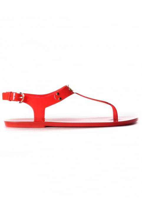 Women's MK Plate Jelly Sandals