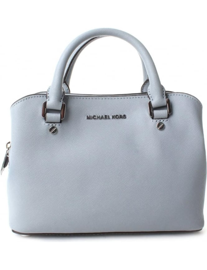 Michael Kors Women's Savannah Small Satchel Dusty Blue
