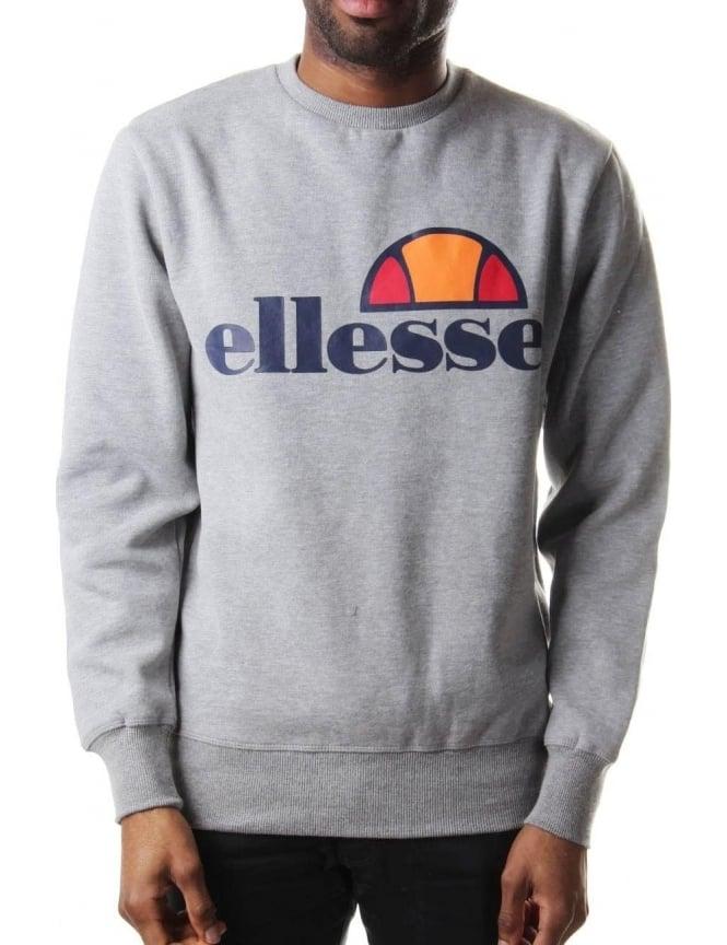 635a24c165 Ellesse Montone Men's Logo Print Crew Neck Sweat Top Grey Marl