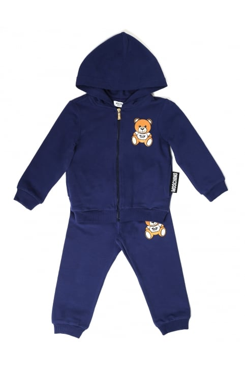 Baby Boys Zip Through Teddy Tracksuit