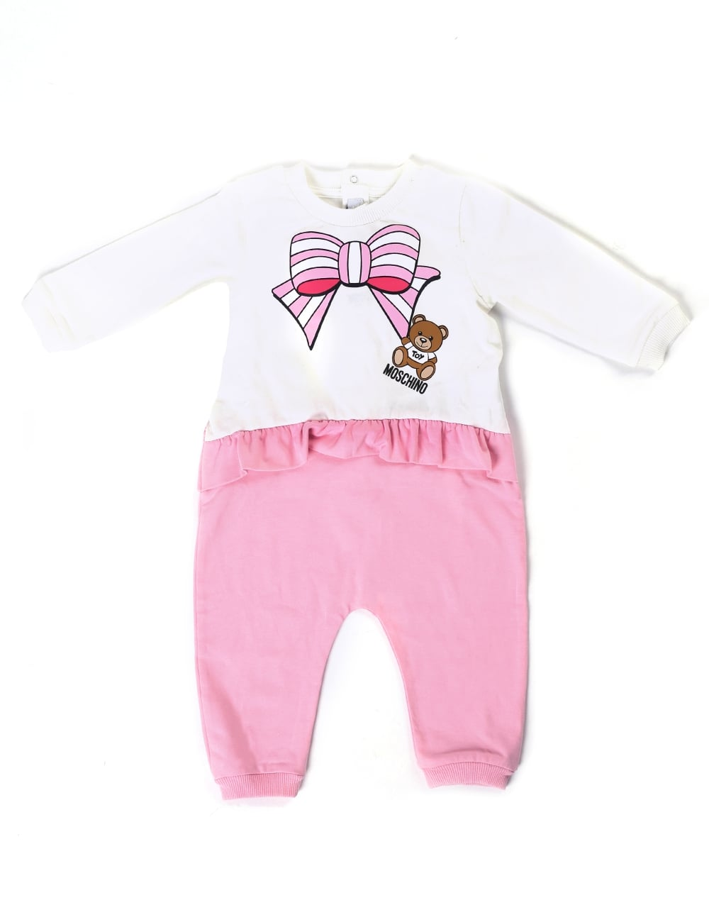 76d99ea8d0c5f Moschino Baby Girl Frill Leggings Babygrow