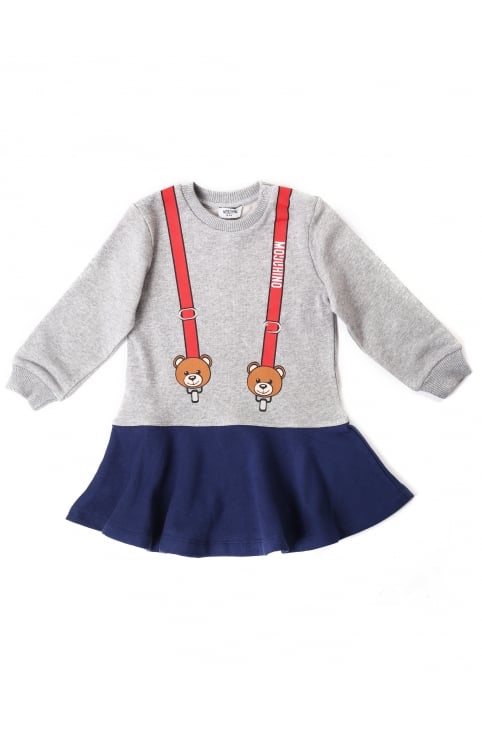 Baby Girls Teddy Braces Dress