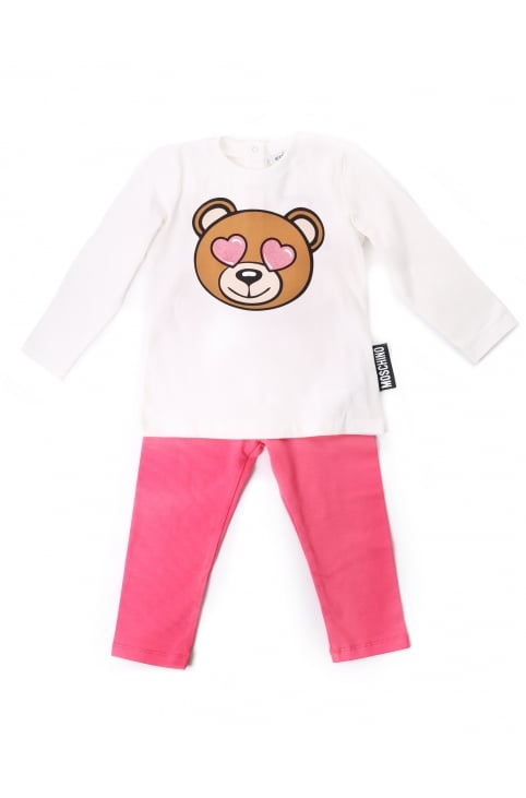 Baby Girls Teddy Tee And Leggings Set