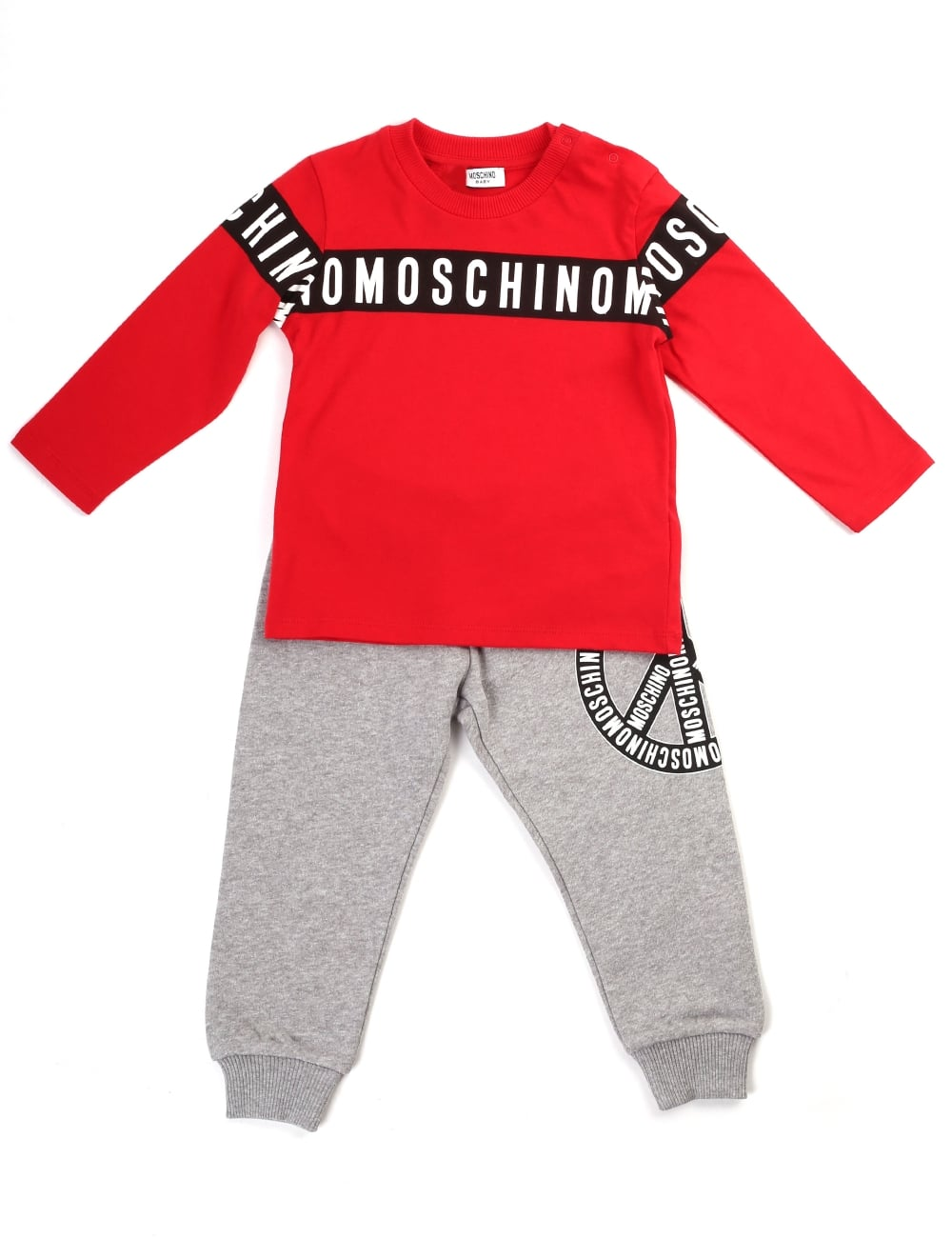 Moschino Boys Tee And Trousers Set 6fa85a3d4