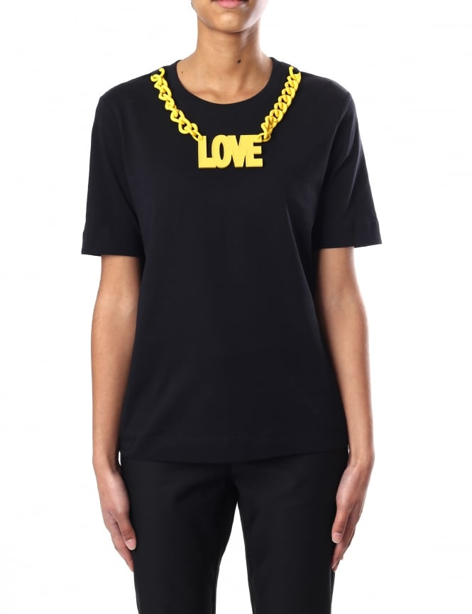Moschino Chain Detail Women's Tee
