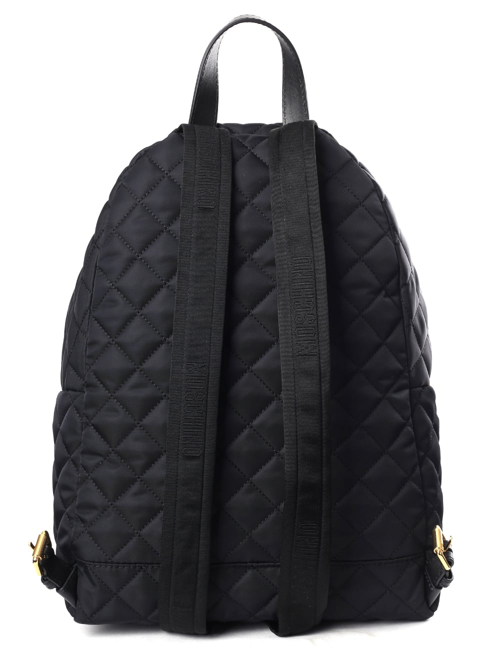 8d1de5cd86db Moschino Couture Quilted Women s Logo Backpack Black