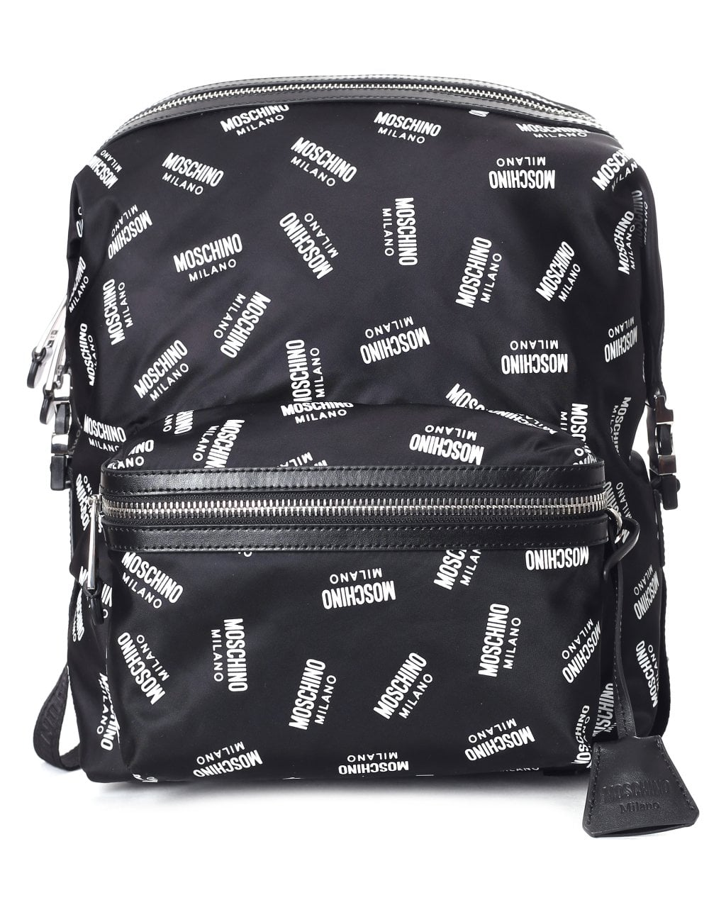110a78a6ed63 Moschino Couture Women s All Over Logo Backpack Black