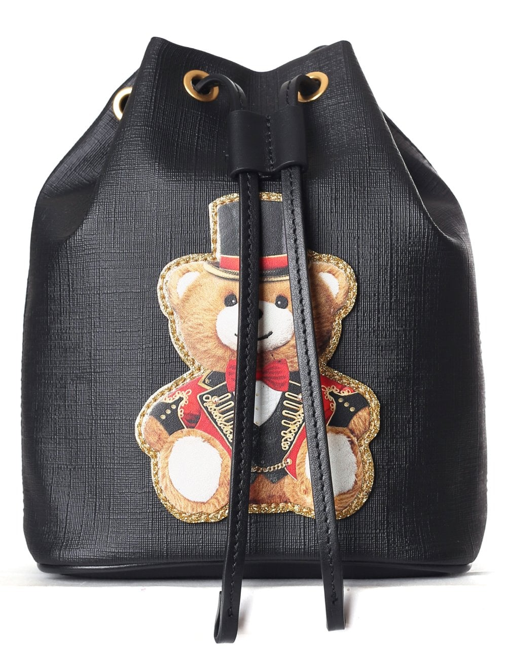 Moschino Couture Women s Bear With Hat Bucket Bag Black 3ba795ea9ccd