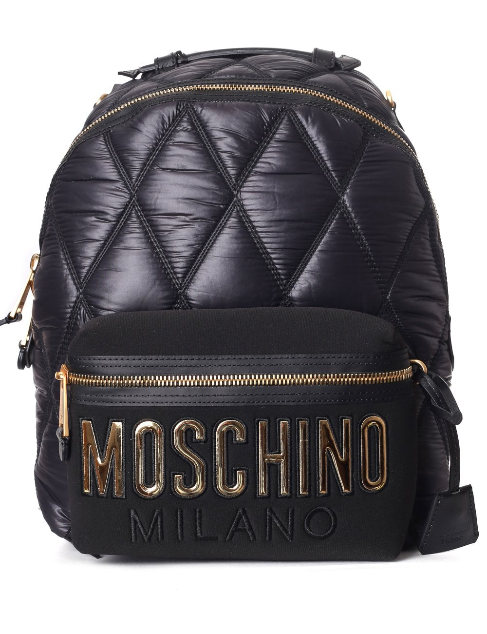 274cac8f8c Moshino Couture Women s Quilted Logo Backpack