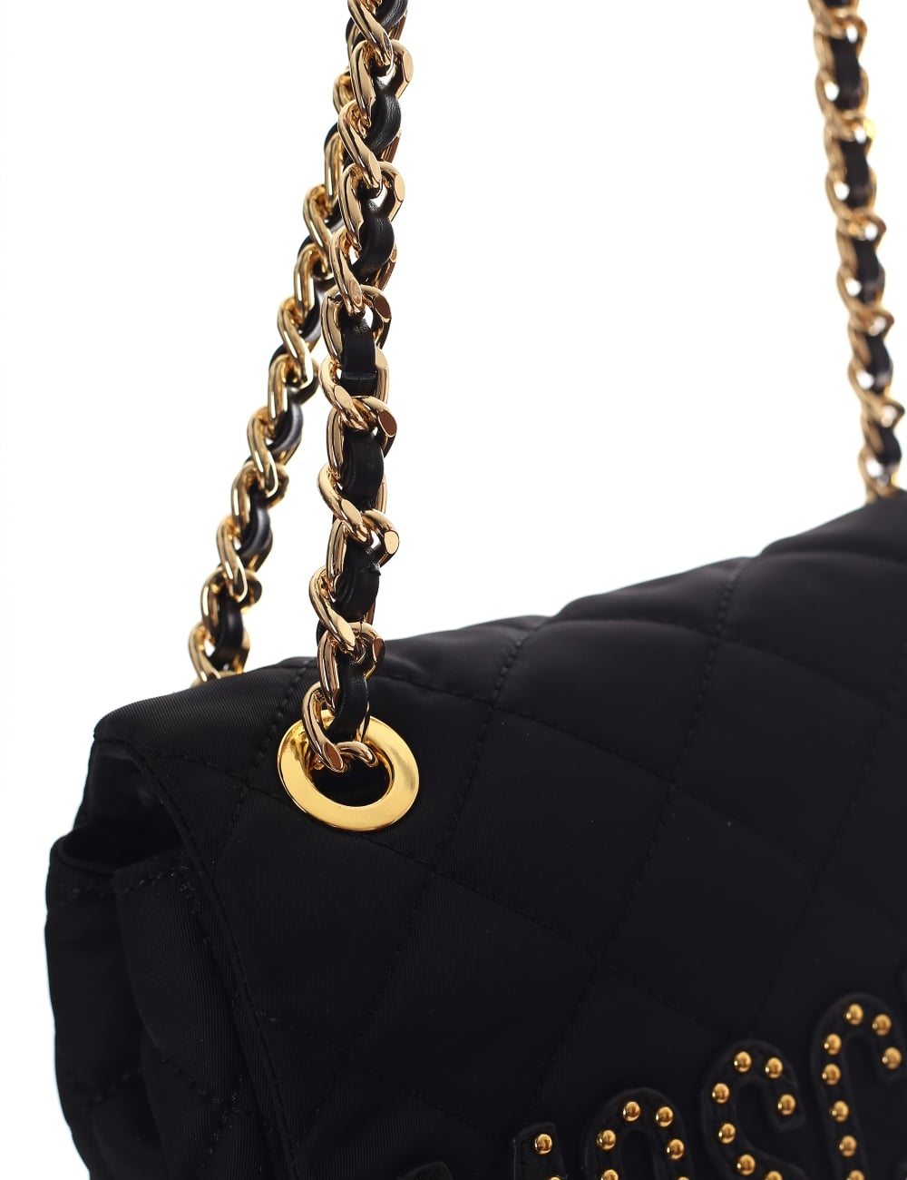 Moschino Women s Quilted Studded Shoulder Bag a3109d3488