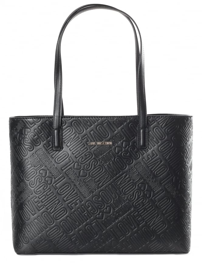Moschino Embossed Logo Women's Shopper Bag