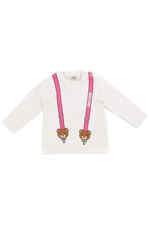 Girls Teddy Braces Long Sleeve Tee