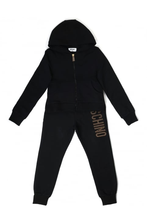 Girls Zip Through Hooded Tracksuit