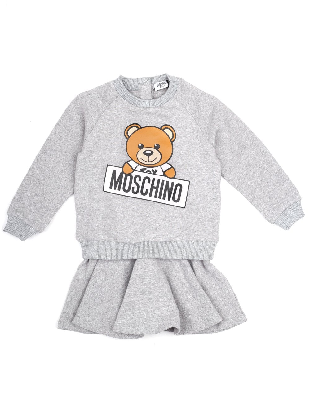 ea6e73ac095 Moschino Kids Baby And Toddler Girls Bear Logo Dress