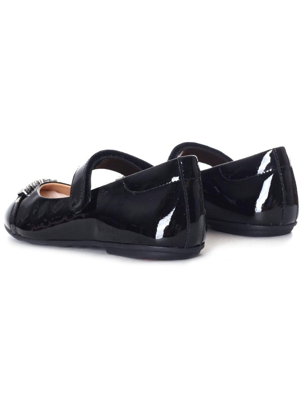 fc73e097e Moschino Girls Logo Front Velcro Shoe Black
