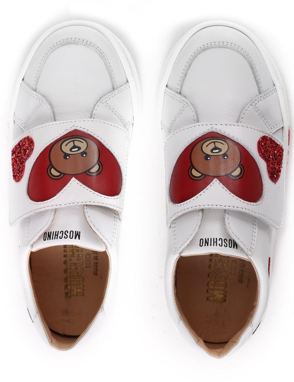 fbfb8c6a2 Moschino Girls Velcro Teddy Trainer