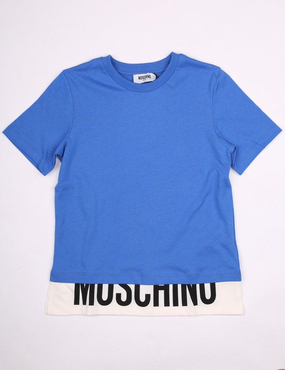 Moschino Kids Boys Elongated Logo Hem Tee 160a8f4c2