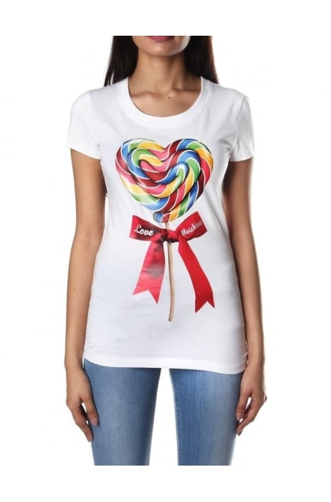 Lollipop Print Women's Crew Neck Tee