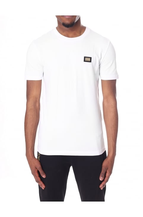 Men's Logo Badge Crew Neck Short Sleeve Tee