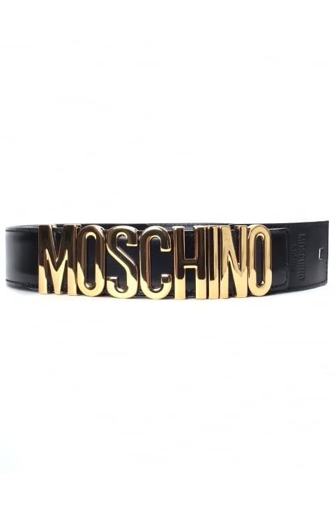 Men's Metallic Logo Belt