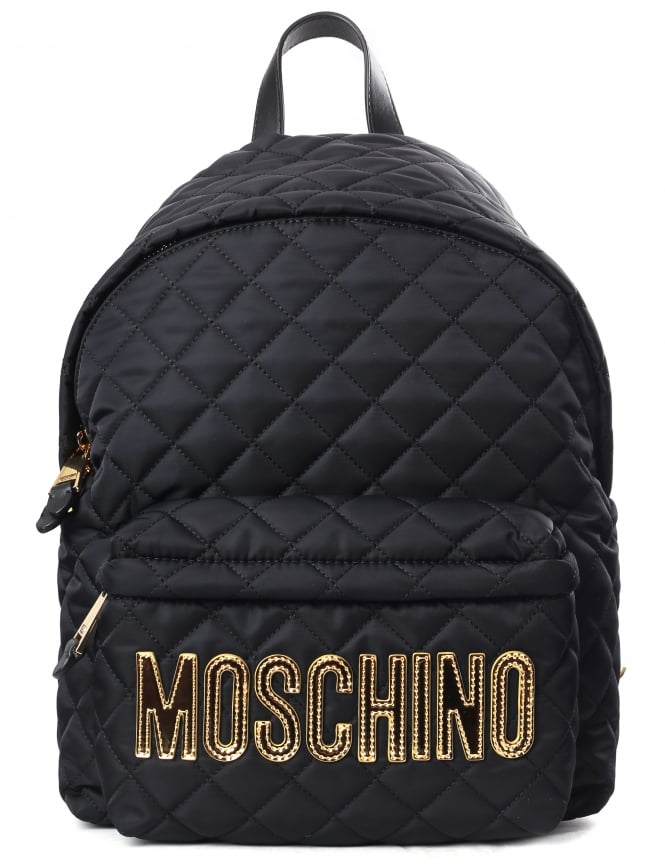 Moschino Quilted Women's Logo Backpack