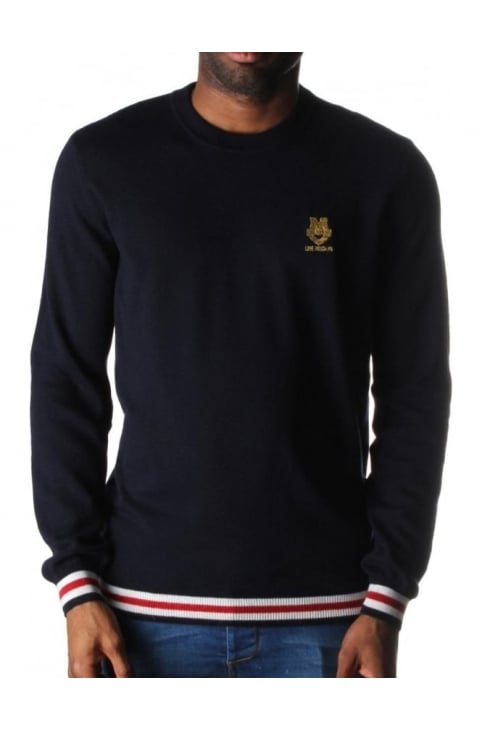 Stitch Logo Men's Knit Navy