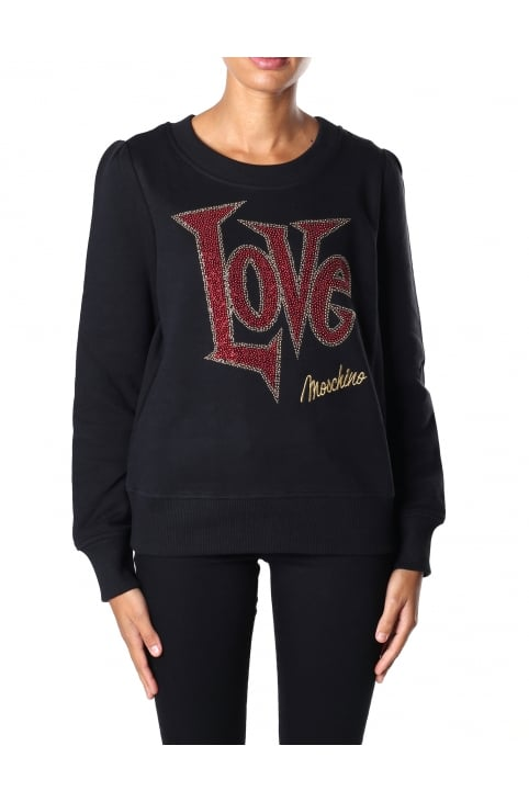 Women's Diamante Love Sweat Top