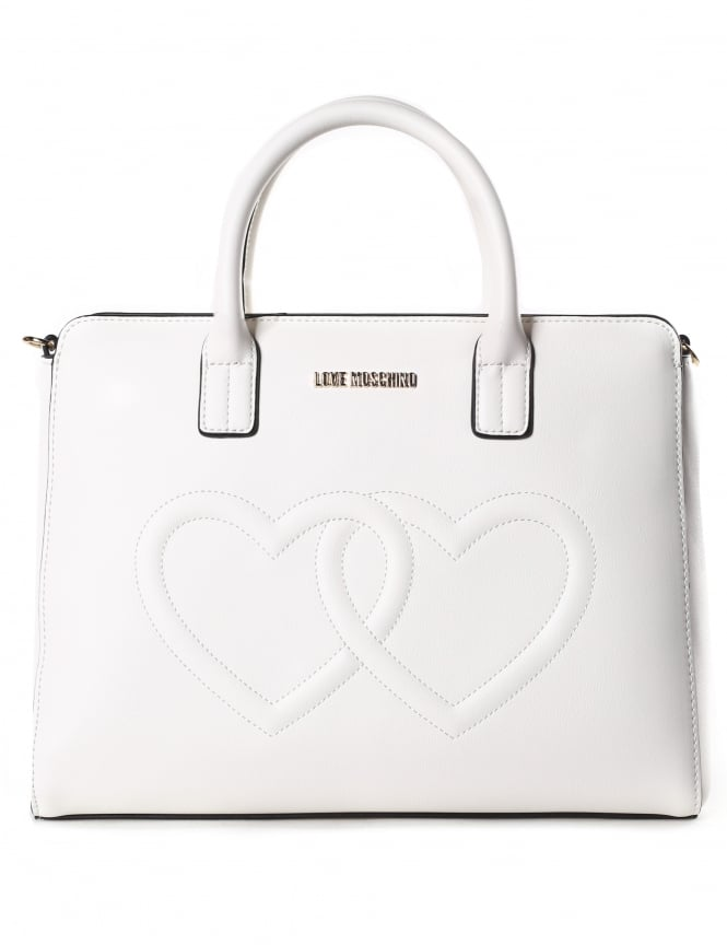 Moschino Women's East West Linked Hearts Bag