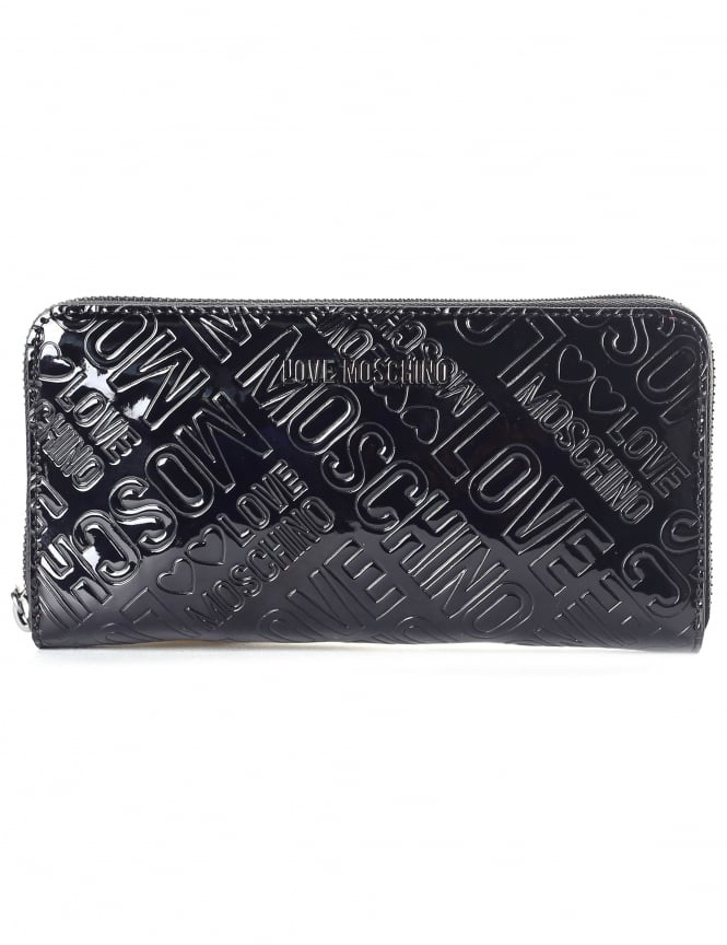 Moschino Women's Embossed Patent Continental Wallet