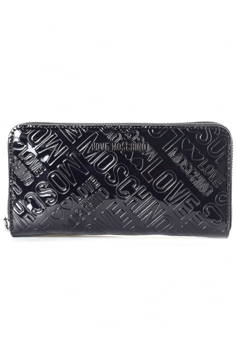 Women's Embossed Patent Continental Wallet
